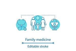 Family medicine concept icon