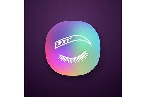 Microblading eyebrows app icon