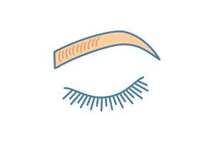 Microblading eyebrows color icon