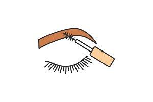 Eyebrows mascara color icon