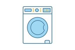 Washing machine color icon