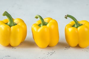 Fresh yellow bell peppers