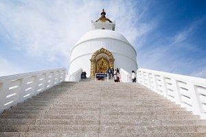 World Peace Pagoda in Pokhara, Nepal