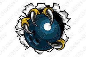 Bowling Ball Eagle Claw Talons