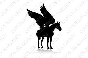 Pegasus Silhouette Mythological