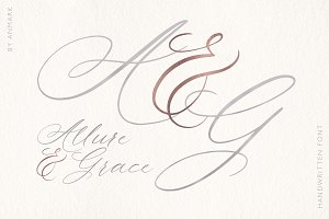 Allure and Grace. Calligraphy Font