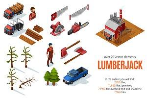 Lumberjack Isometric Set