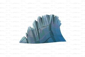 ♥ vector rocky cliff, rock stone