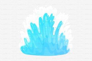 ♥ vector sea tidal wave splash