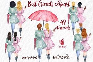 Best Friends Soul sisters clipart
