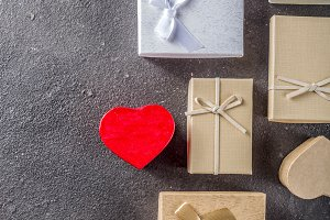 Valentines day gifts boxes backgroun