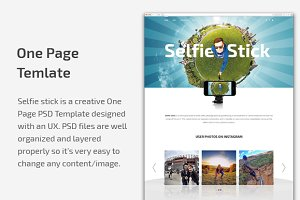 Selfie Stick | One page PSD template