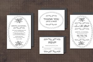 Wedding Invitation Suite DoodleFrame
