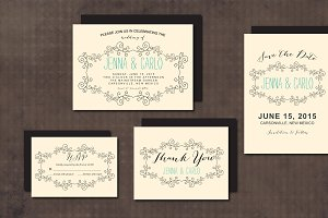 Wedding Invitation Suite DoodleSwirl