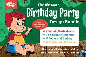 Children's Party Illustration Bundle