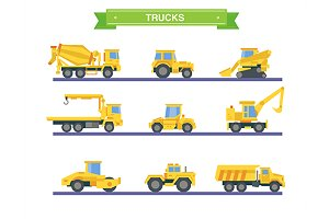 Vector heavy equipment cars
