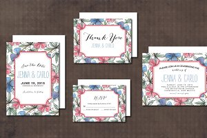 Wedding Invitation Suite floral