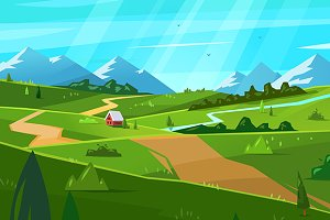 Natural landscape. Vector