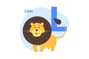 Children's Alphabet Icon Cartoon
