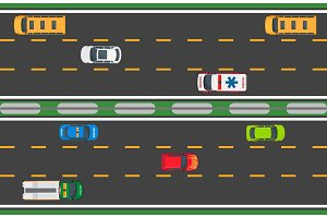 City Traffic Vector Concept with