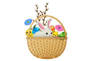 Easter Animals, Flowers and Eggs