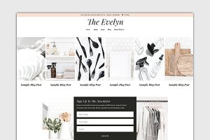 The Evelyn Divi Child Blog Theme