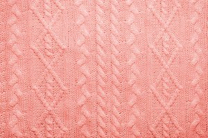 Knitted Living coral texture with pa