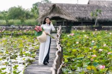 Portrait of beautiful vietnamese wom by  in Holidays