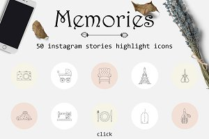 Memories-Instagram highlights icons