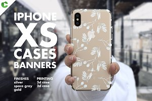 iPhone XS Case Banners Mock-up vs2