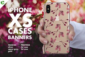 iPhone XS Case Banners Mock-up vs1