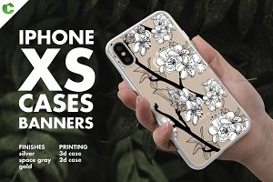iPhone XS Case Banners Mock-up vs4