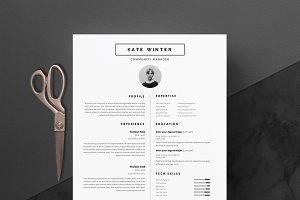 4 page Resume Template | Clean-Cut