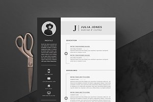 4 page Resume Template | Noir