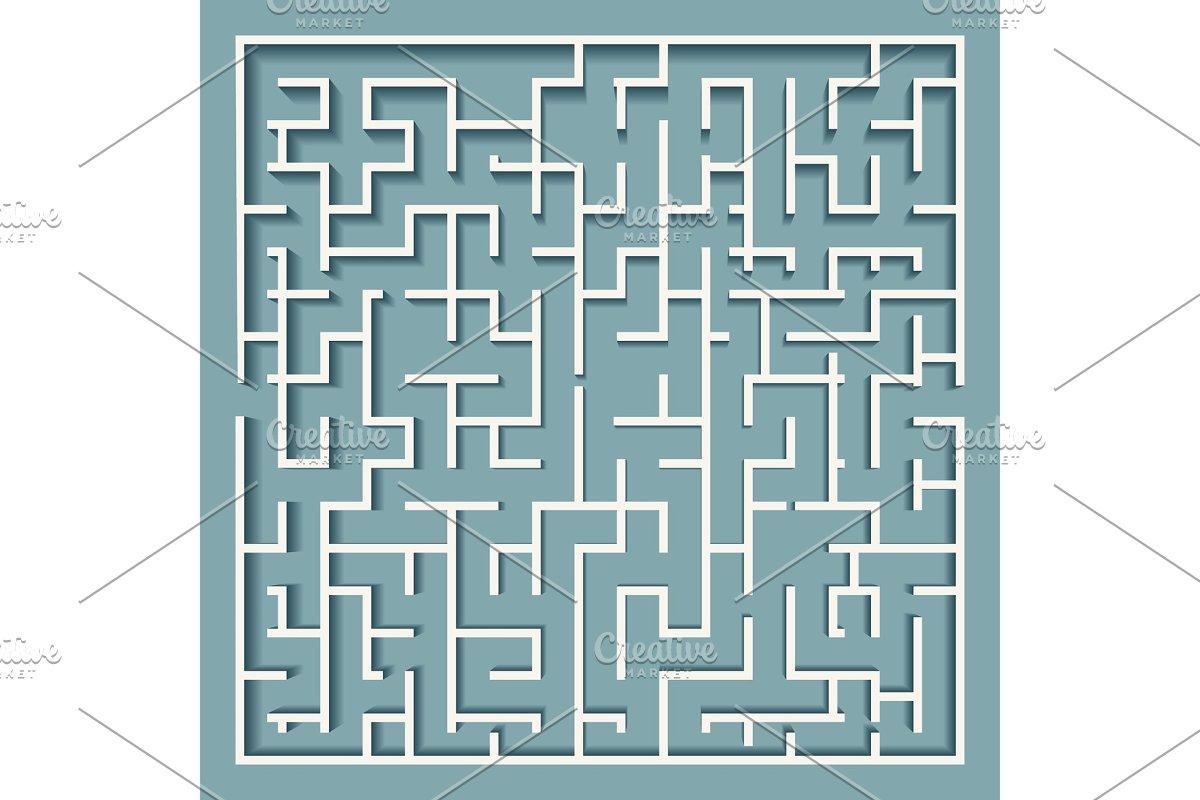 Square labyrinth maze