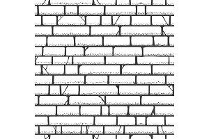 Brick wall sketch pattern