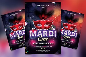 Carnival Mardi Gras PSD Flyer
