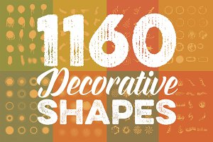 Megabundle: 1160 Decorative Shapes