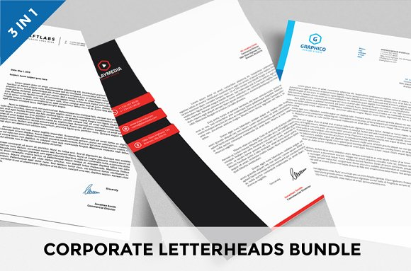 Corporate Letterheads Bundle vol.2 - Stationery