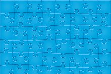 Jigsaw Puzzle Pattern. 48 pieces.
