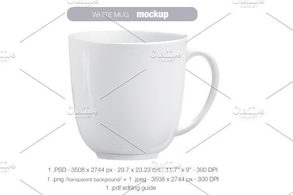 Download White mug MOCK UP