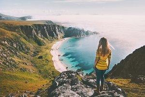 Summer travel woman tourist