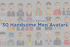 30 Handsome Men Avatars