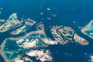 Aerial view of Muirhead Reef. Great