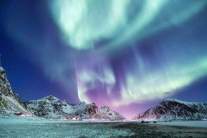 Aurora borealis, Lofoten islands