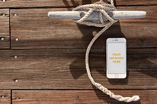 Nautical Dock iPhone PSD