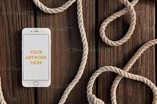 Nautical Dock Ropes iPhone PSD