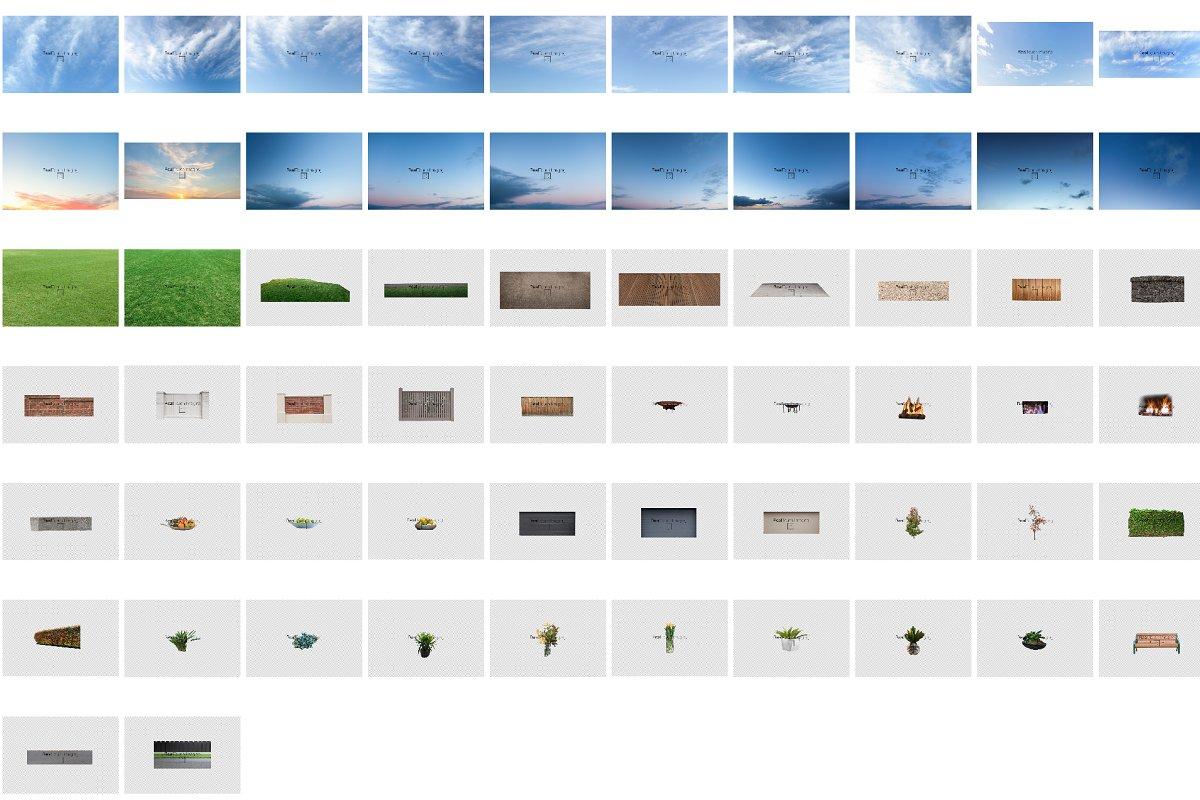Real Estate Sky Grass Stock Bundle