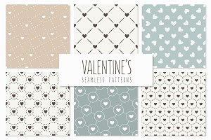 Valentine's Seamless Patterns Set