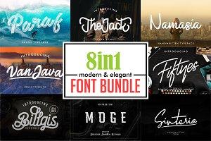 Elegant Font Bundle   Logo Font